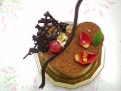 ハート形フレッシュケーキ1