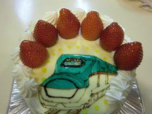 新幹線のケーキ