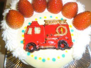 消防車ケーキ