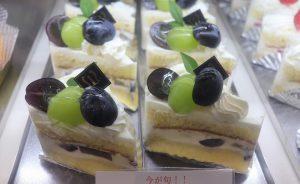 長野パープルとシャインマスカットのショートケーキ